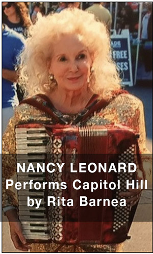 Nancy Leonard Performs on Capital Hill, Washington, D.C.